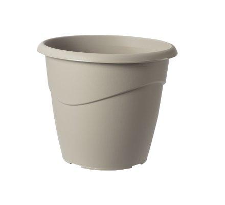 Lot de 2 cache-pots en plastique gris clair 10L EDA D30cm x H26cm