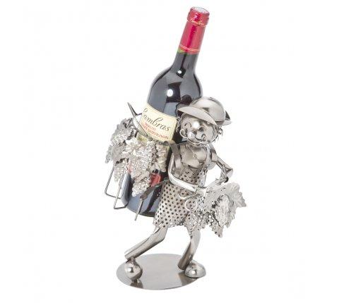 Porte bouteille Métal vendangeur H28cm