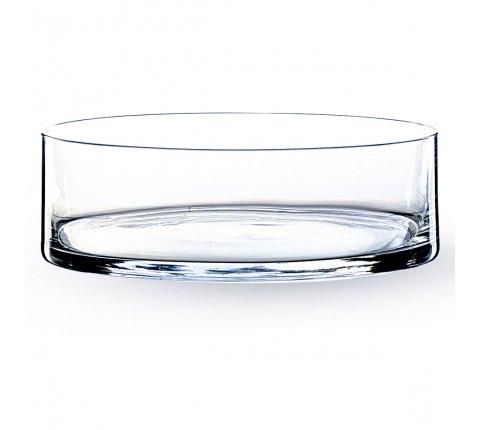 Photophore Coupe Cylindrique en verre (h)8x(d)25cm