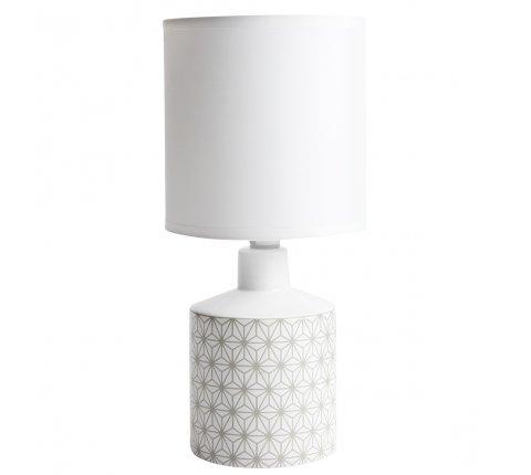 Lampe de chevet GISELE céramique motif beige 29x14cm