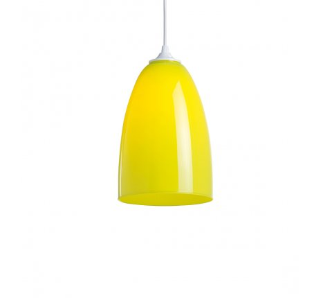 Suspension OGIVE COLORS en verre - Anis
